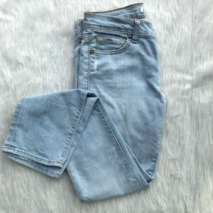 J Brand Straight Leg Light Wash Jeans